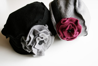 20 best fleece hat patterns sew guide a very girly hat making tutorial with a big flower embellishing it pretty cute pronofoot35fo Choice Image