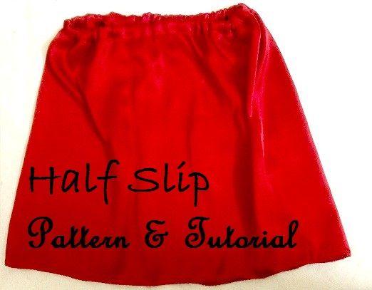 half slip pattern