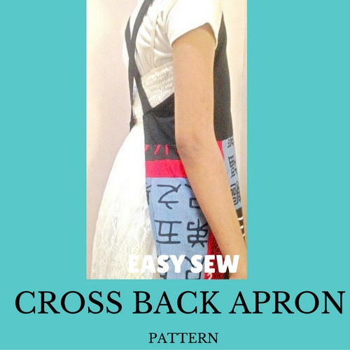 Make Easy Japanese style CROSS BACK APRON - Free diy pattern ...