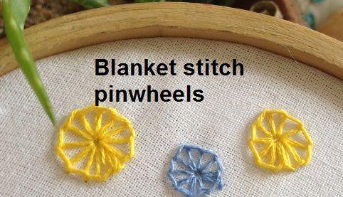 blanket stitch pinwheels