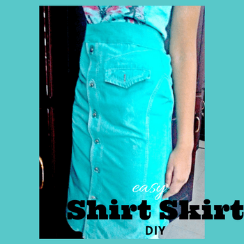 how to make a shirt skirt