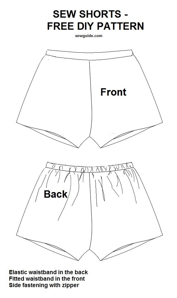 How to sew SHORTS- {3 Free DIY Patterns & sewing tutorials} - Sew Guide