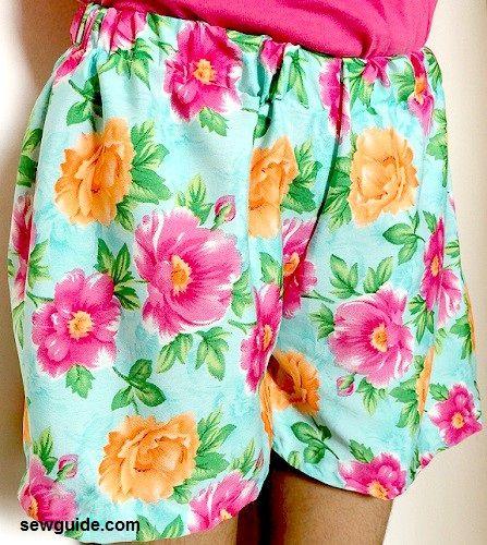 sew a shorts