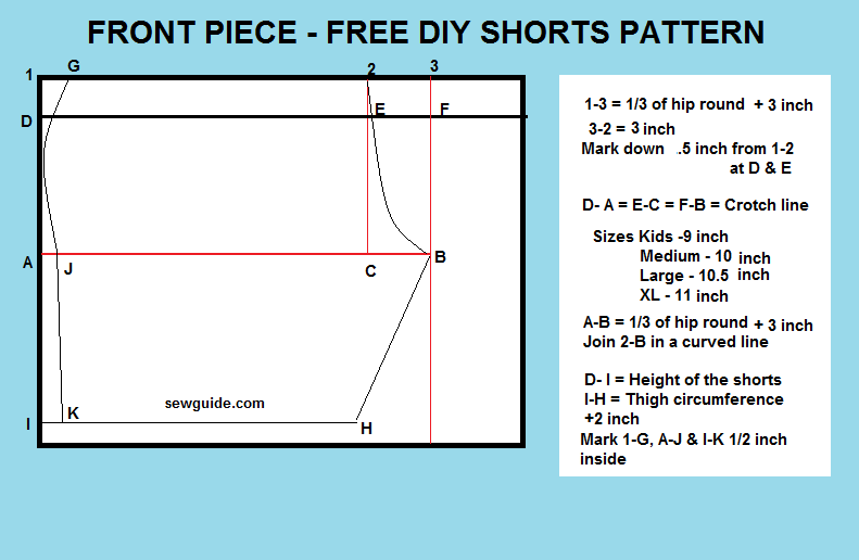 how to stitch shorts
