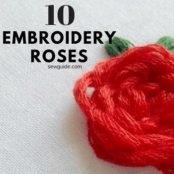 embroider roses
