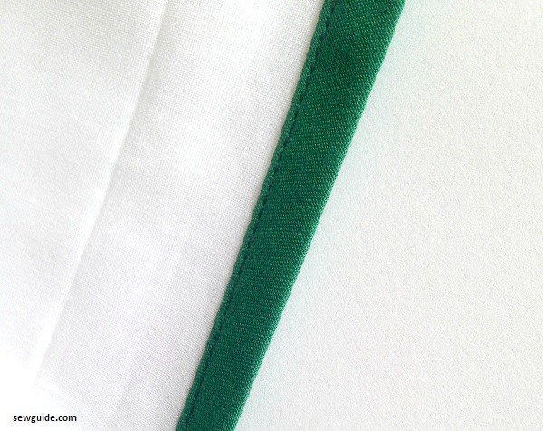 bias tape binding of necklines