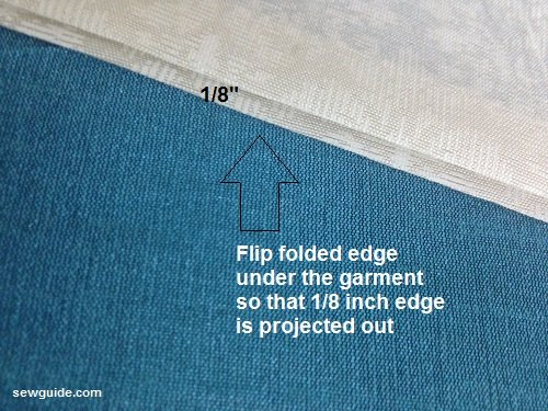 blind hem stitch by hand