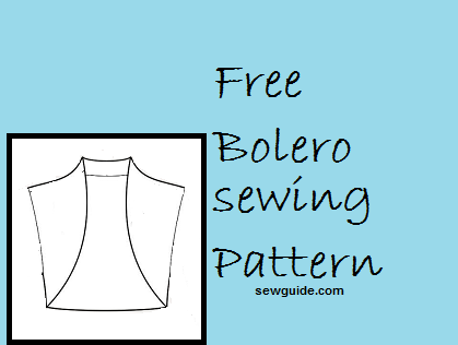 Pretty} Easy Bolero - FREE DIY sewing pattern & tutorial - Sew Guide