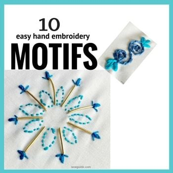 easy to make embroidery motifs