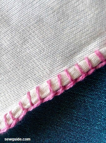 hemming by hand stitches