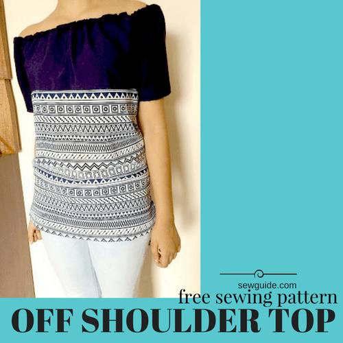 3d26e52917 3 ways to Make an OFF SHOULDER TOP - Free sewing tutorial - Sew Guide