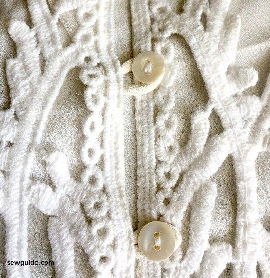thread loops for buttonholes