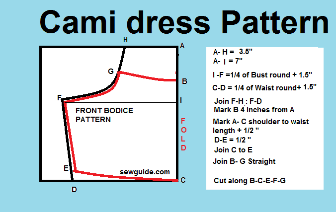 Cami slip dress pattern