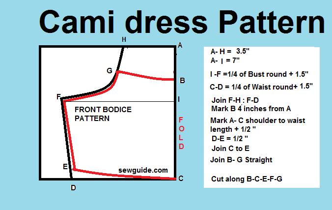 Cami slip dress pattern