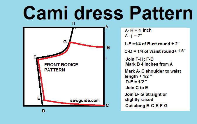 camislip dress pattern