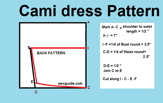 cami dress pattern