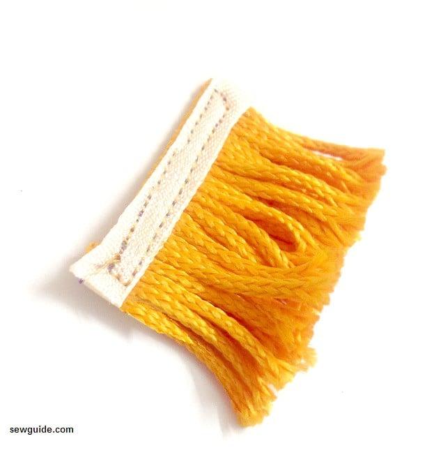 sew fringe trim
