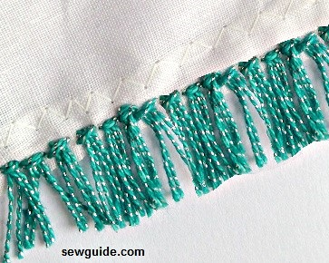 make fabric fringe trims