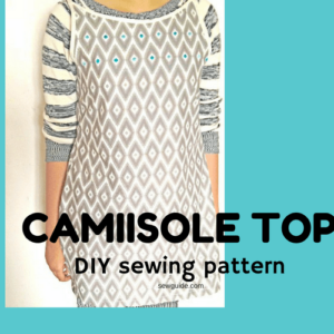 how to sew a camisole top