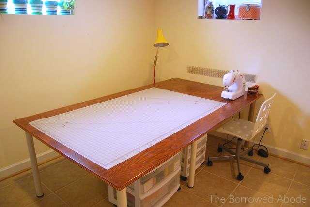 How To Make A Sewing Room Cutting Table