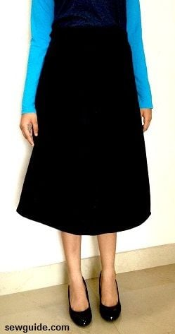 how to sew an A line skirt free pattern