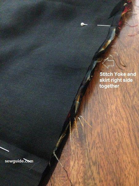 aline yoke skirt pattern for stitching
