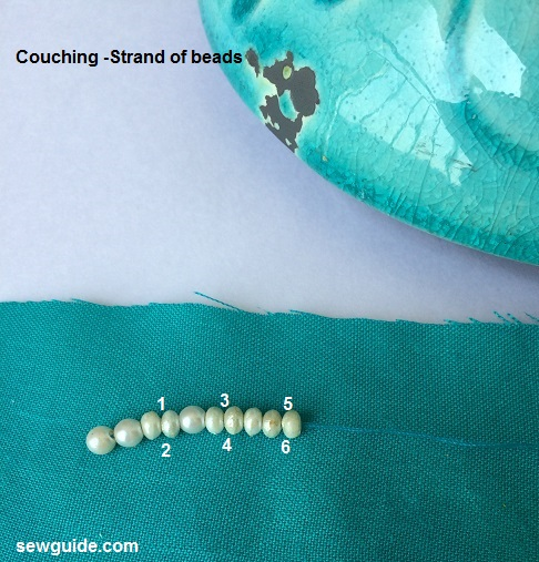 how to bead on fabric