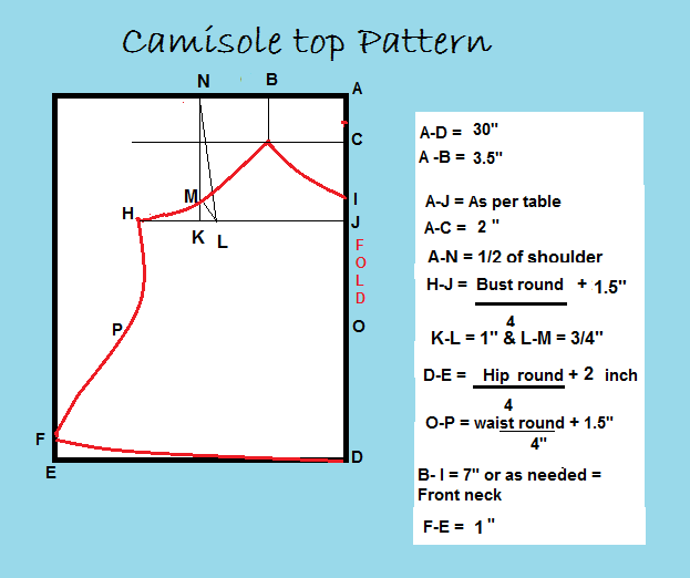 camisole top pattern