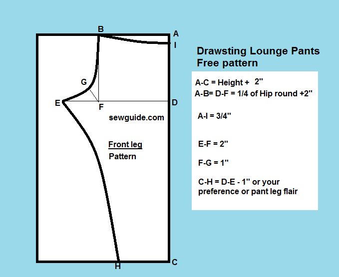 Easy Drawstring Lounge Pants Free DIY Sewing Pattern Sew Guide Adorable Pajama Pants Pattern