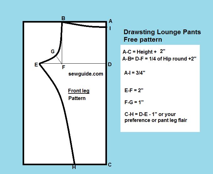 photo regarding Printable Pajama Pants Pattern named Straightforward Drawstring lounge trousers ( Totally free Do it yourself Sewing Behavior