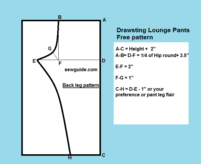 Easy Drawstring Lounge Pants Free Diy Sewing Pattern