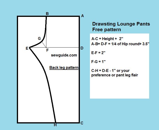 drawstring pant pattern