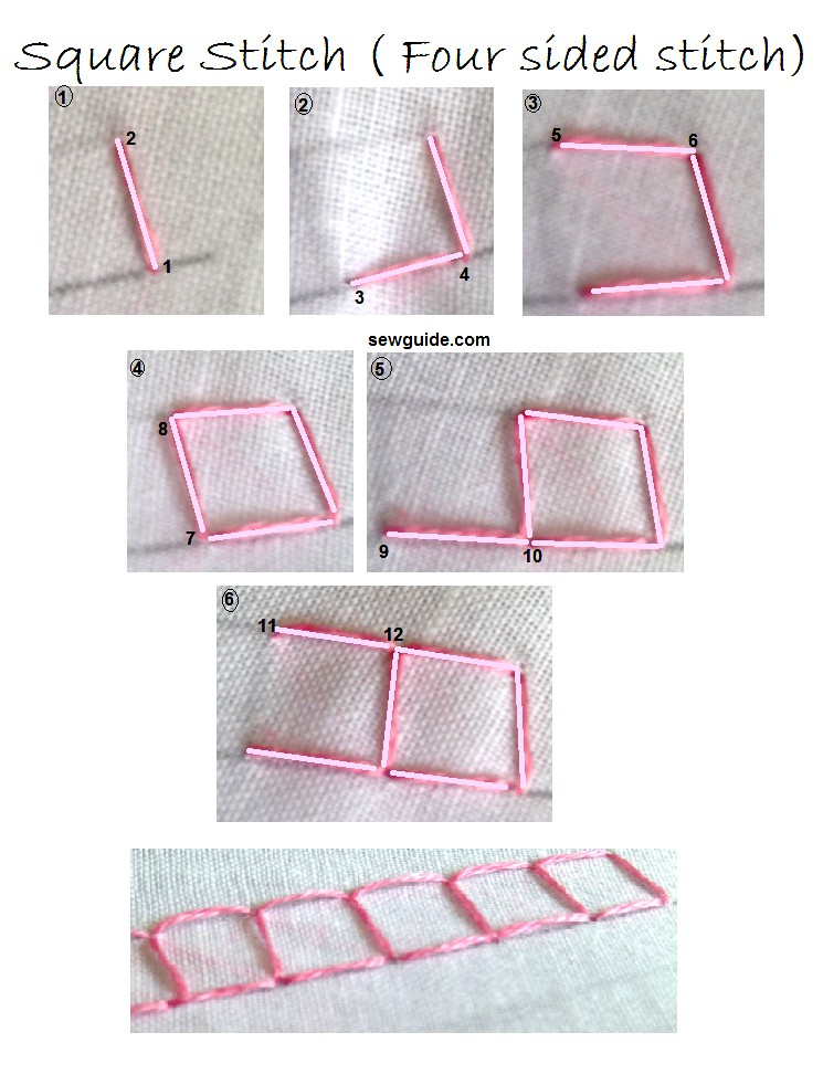 four sided square stitch