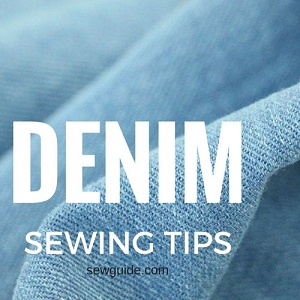 sewing with jeans denim fabric