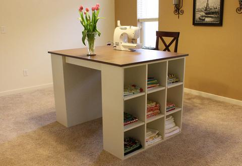 Awesome Bookshelf Turned Craft Table