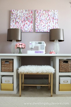 sewing table bench diy