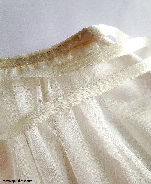 how to sew a tulle skirt