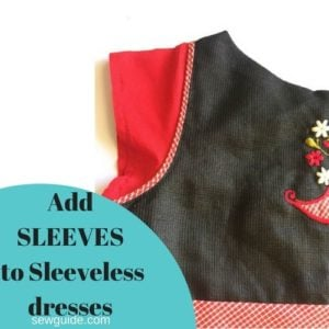 add sleeves to sleeveless dress