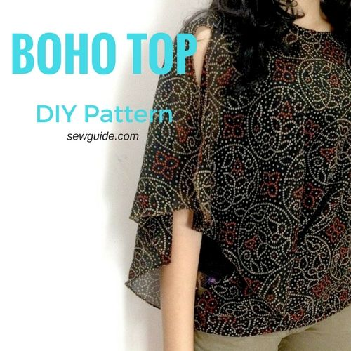 Make An Easy Batwing Sleeved Boho Top Free Sewing