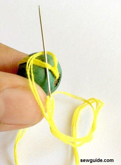make bead buttons