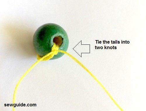 Make a BEAD BUTTON - easy way