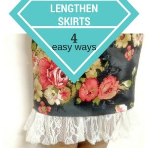 slip extender diy for skirts / dresses