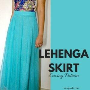 lehenga skirt pattern
