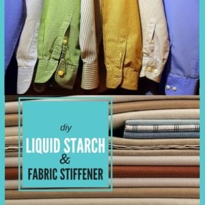 7 { DIY } Laundry Starch & Fabric stiffener recipes for clothes