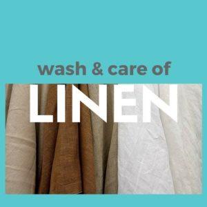 washing and ironing linen