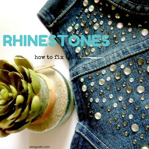 dda4e3bf7e6f How to fix rhinestones on clothes - Sew   No sew methods - Sew Guide