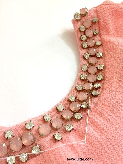 how to attach sew on rhinestones