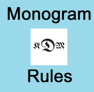 What Is A Monogram Guidelines Amp Simple Placement Rules