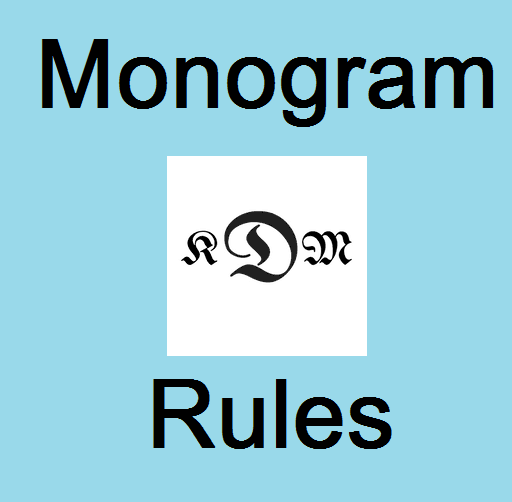 monogram rules