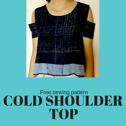 Make a COLD SHOULDER TOP- Free sewing pattern & tutorial